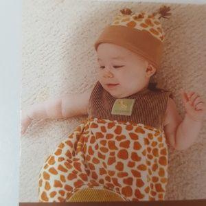 3 /$30 nwt baby aspen snuggly giraffe bunnting